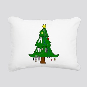 Fencer Christmas Cards Rectangular Canvas Pillow