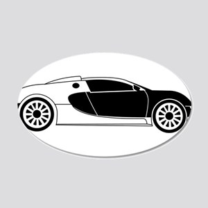 Sports Car 20x12 Oval Wall Decal