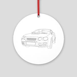 Car Outline Ornament (Round)