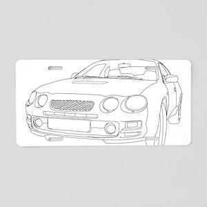 Car Outline Aluminum License Plate