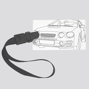 Car Outline Large Luggage Tag
