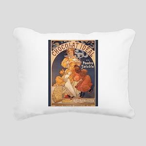 Mucha Chocolate Art Nouveau Label Rectangular Canv