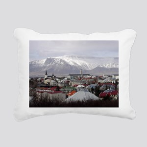 Reykjavik Blues Rectangular Canvas Pillow