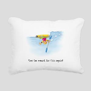 Kayak Capers 12 Rectangular Canvas Pillow
