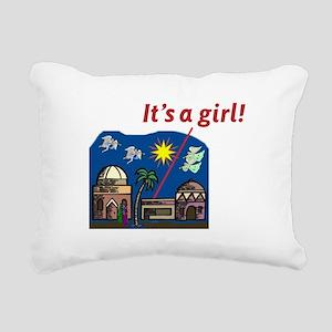 It's a Girl! - Rectangular Canvas Pillow