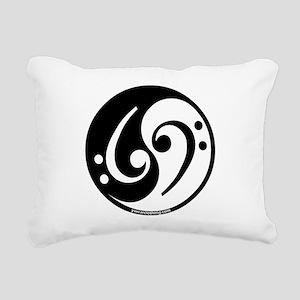 Yin Yang Bass Note Rectangular Canvas Pillow