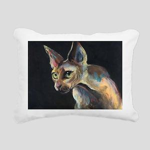 Sphynx cat 19 Rectangular Canvas Pillow