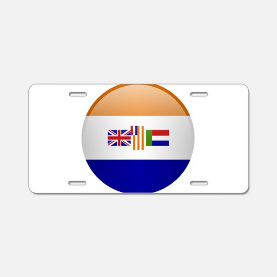 SA republic button Aluminum License Plate