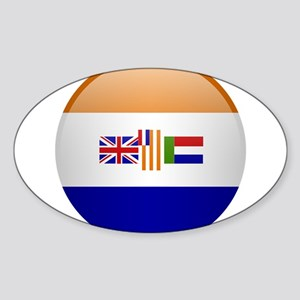 SA republic button Sticker (Oval)