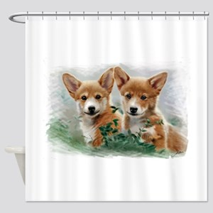2 corgiv.10x. TS Shower Curtain
