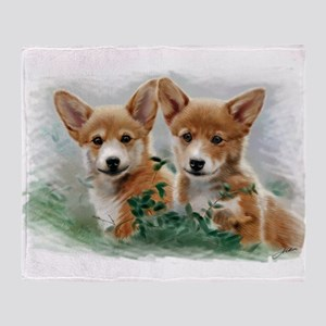 2 corgiv.10x. TS Throw Blanket
