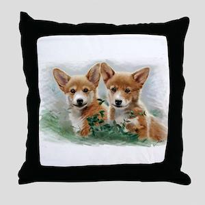 2 corgiv.10x. TS Throw Pillow