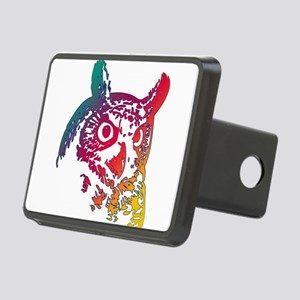 Colorful Owl Rectangular Hitch Cover