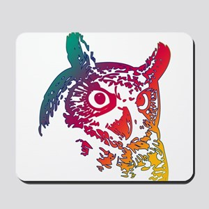 Colorful Owl Mousepad