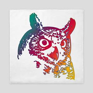 Colorful Owl Queen Duvet