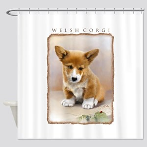 Corgi-valp10x Shower Curtain