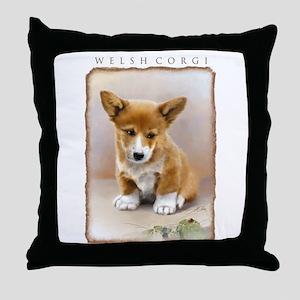 Corgi-valp10x Throw Pillow