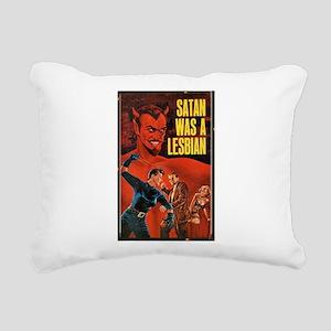 SATAN WAS A LESBIAN Rectangular Canvas Pillow