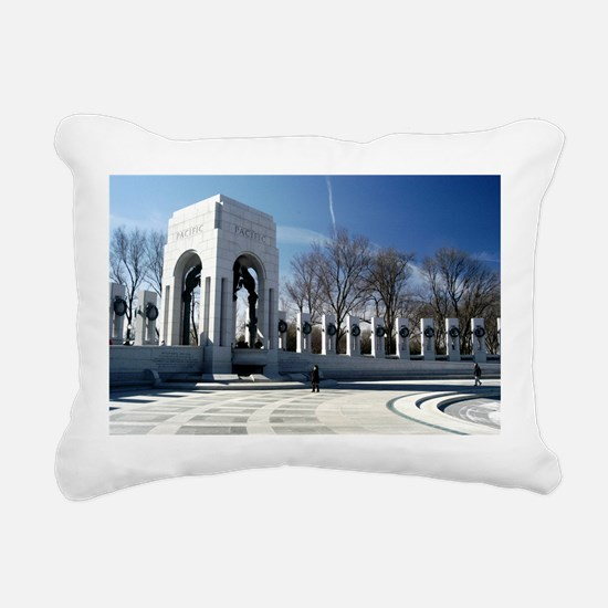 World War II Memorial Rectangular Canvas Pillow