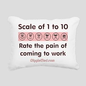 Pain of Work Rectangular Canvas Pillow