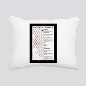 Poker Ranks Rectangular Canvas Pillow