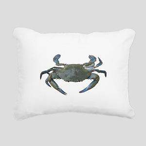 Chesapeake Bay Blue Crabs Rectangular Canvas Pillo