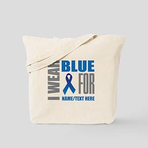 Blue Awareness Ribbon Customized Tote Bag