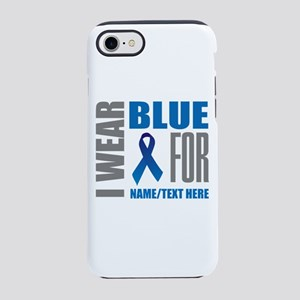 Blue Awareness Ribbon Customiz iPhone 7 Tough Case