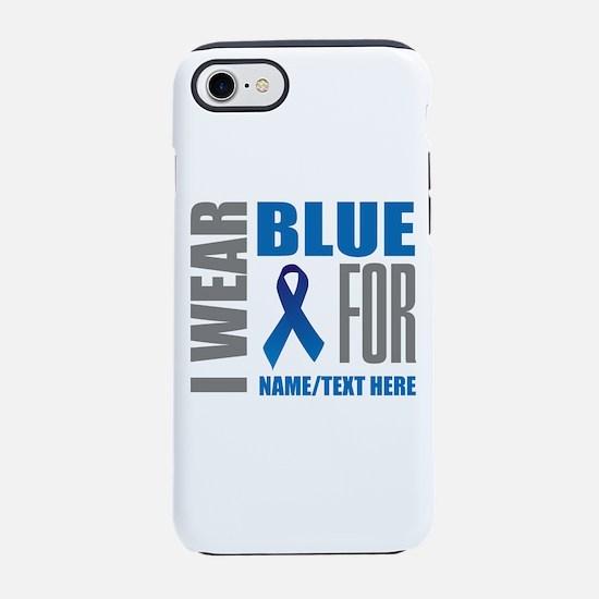 Blue Awareness Ribbon Customiz iPhone 7 Tough Case