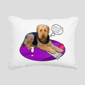 Airedale Valentine's Rectangular Canvas Pillow