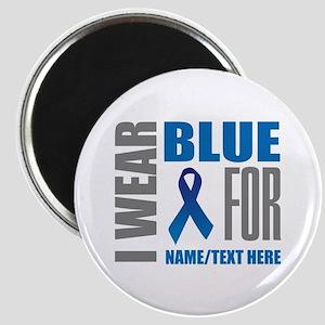 Blue Awareness Ribbon Customized Magnet