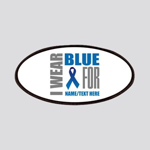 Blue Awareness Ribbon Customized Patch