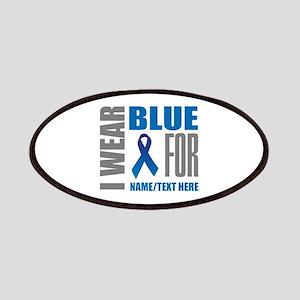 Blue Awareness Ribbon Customized Patch