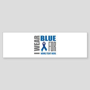 Blue Awareness Ribbon Customized Sticker (Bumper)