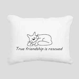 Cat Friendship Rectangular Canvas Pillow
