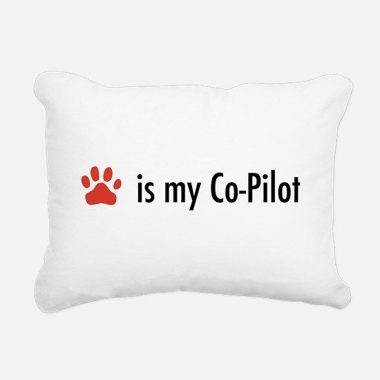 Dog is my Co-Pilot Rectangular Canvas Pillow