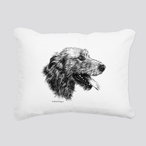 Irish Wolfhound Rectangular Canvas Pillow
