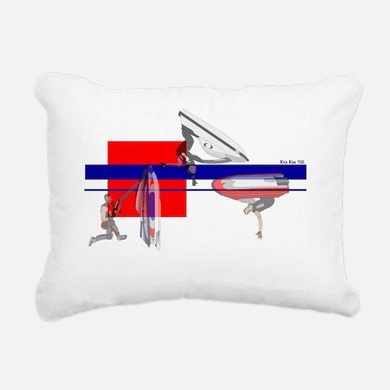 Cute Superjets Rectangular Canvas Pillow