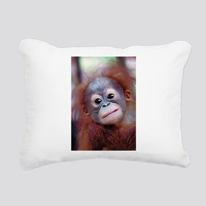Baby Orangutan Rectangular Canvas Pillow