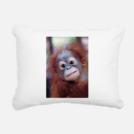 Baby Orangutan Rectangular Canvas Pillow