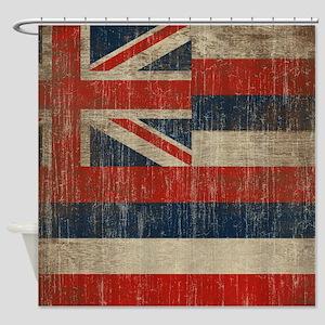 Vintage Hawaii Flag Shower Curtain