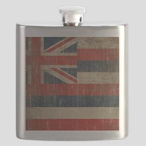 Vintage Hawaii Flag Flask