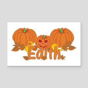 Halloween Pumpkin Edith Rectangle Car Magnet
