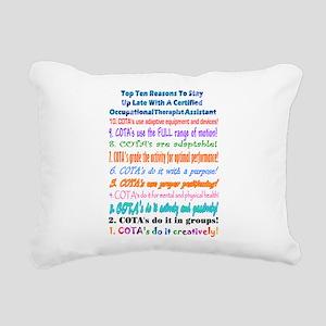 Up Late COTA Rectangular Canvas Pillow