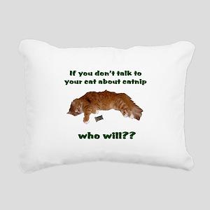 Catnip Rectangular Canvas Pillow
