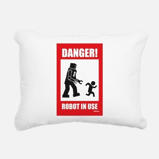Funny Robot Rectangular Canvas Pillow