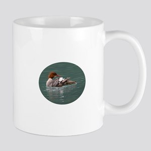 Merganser on Emerald Water Mug