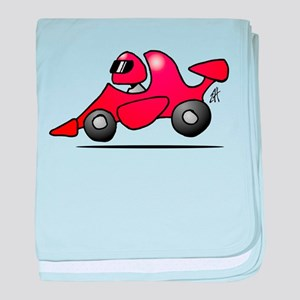 Red race car baby blanket