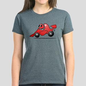 Red race car Women's Dark T-Shirt