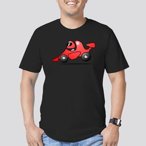 Red race car Men's Fitted T-Shirt (dark)